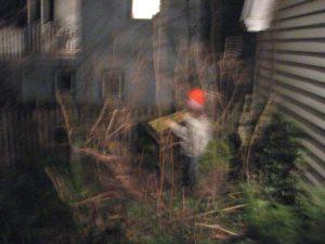 boys running in the dark