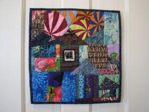 "Martha's Vineyard Tile (quilt, 13 1/2"" x 14"")"