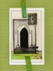 """5"""" x 7"""", mixed media collage"""