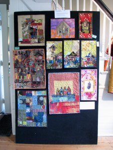 A few quilts on display