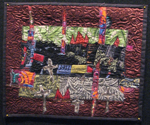 "9/11/06 Quilt, about 18"" x 11"""