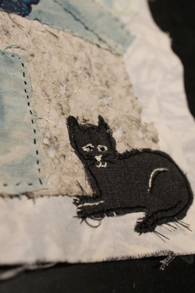 kitty made of recycle pant material - frayed too much!