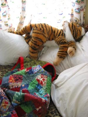 C's bed