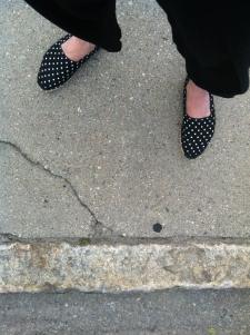 feet with stripe