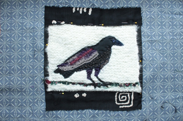 rejected bead eye, used button; added silk for wings and belly, felt for feet