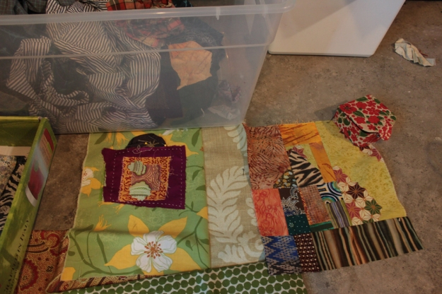 woven islands partnered with Middle Passage piecing