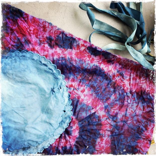 doilies, grosgrain ribbon, commercial cotton: mine